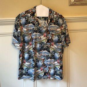 Men's Tommy Bahama silk short sleeved shirt